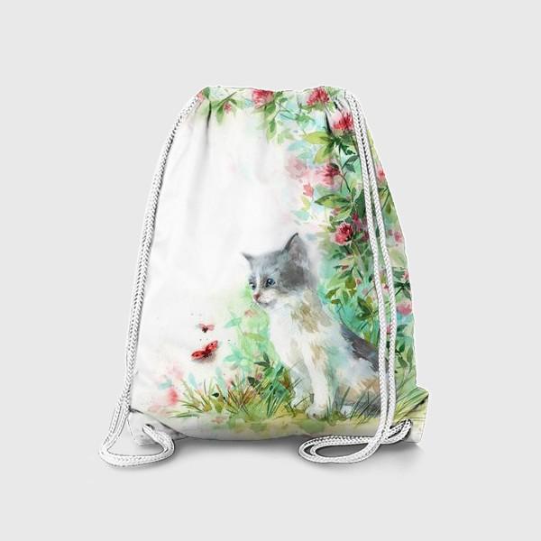 Рюкзак «Котёнок и божья коровка»