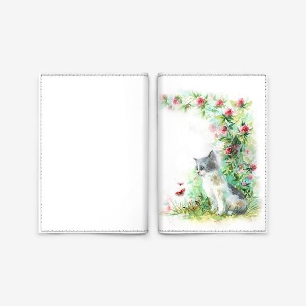 Обложка для паспорта «Котёнок и божья коровка»
