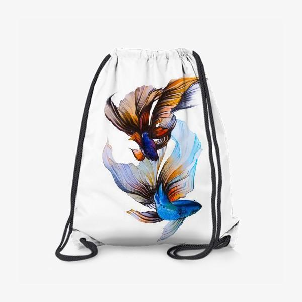 Рюкзак «Акварельные рыбки»