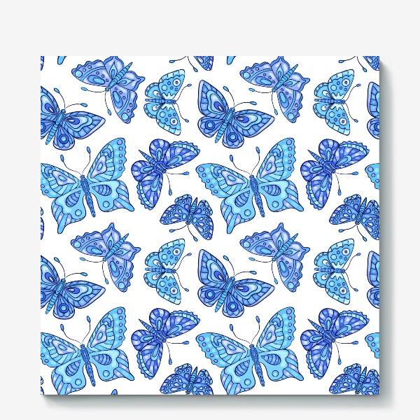 Холст «Голубые бабочки»