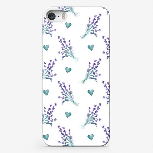 Чехол iPhone «Лаванда и сердечки»