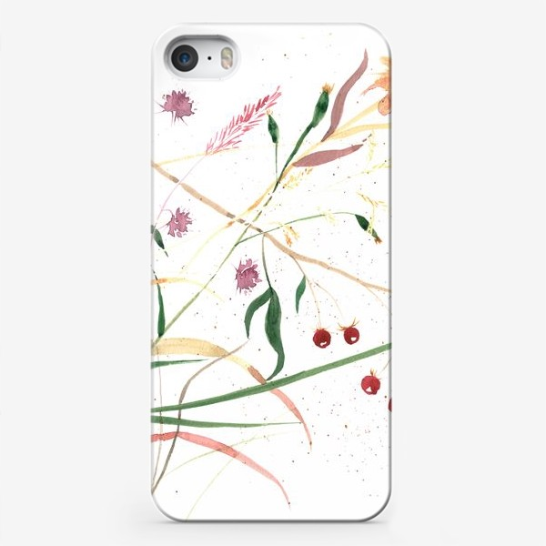 Чехол iPhone «Абстрактный цветочный орнамент»