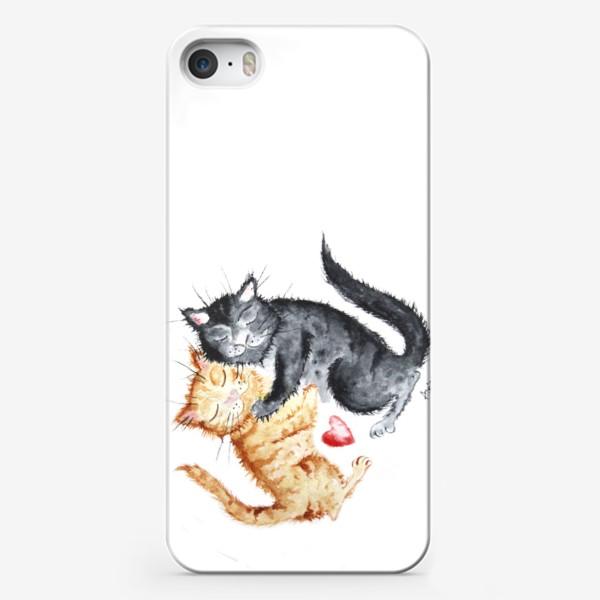 Чехол iPhone «Влюблённые коты»