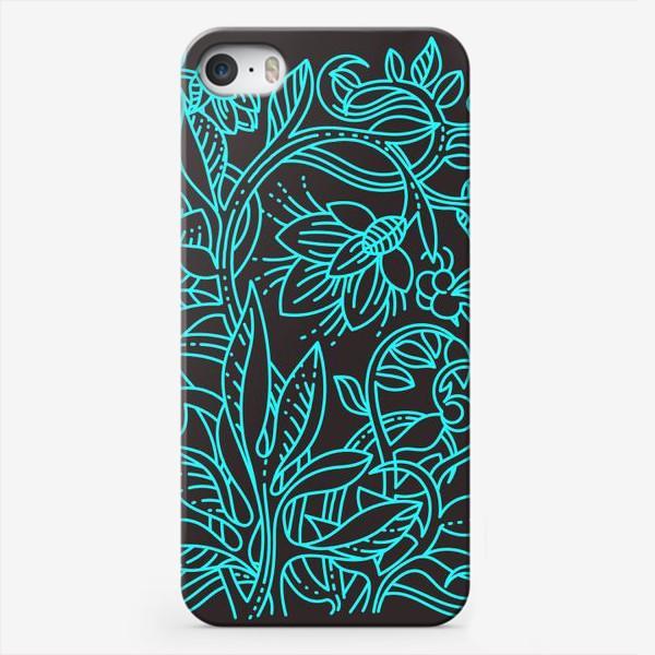 Чехол iPhone «Бирюзовая ботаника»