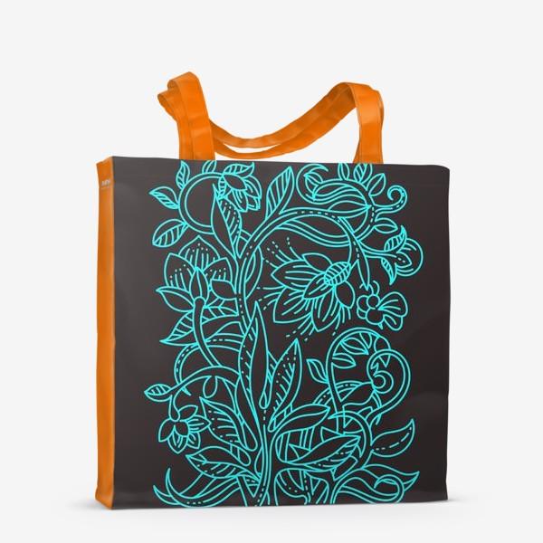 Сумка-шоппер «Бирюзовая ботаника»