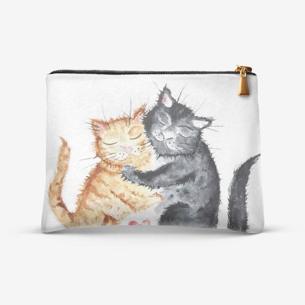 Косметичка «Влюблённые коты»