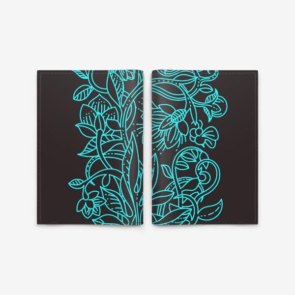 Обложка для паспорта «Бирюзовая ботаника»