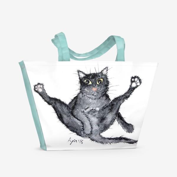 Пляжная сумка «Лапки вверх!»