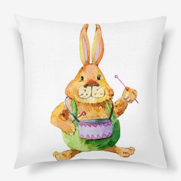 Подушка «Заяц с барабаном»