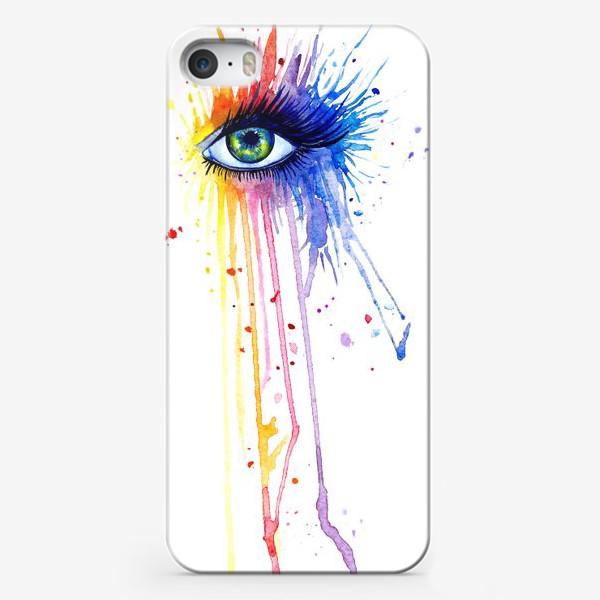 Чехол iPhone «Акварельный глаз»