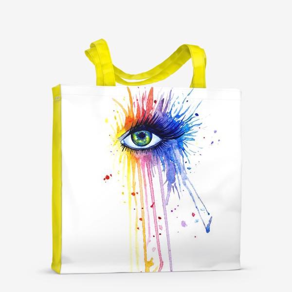 Сумка-шоппер «Акварельный глаз»