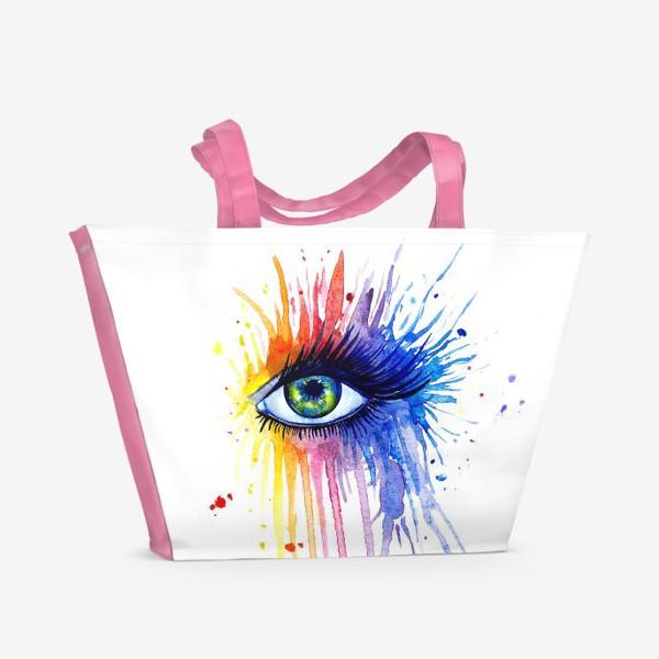 Пляжная сумка «Акварельный глаз»