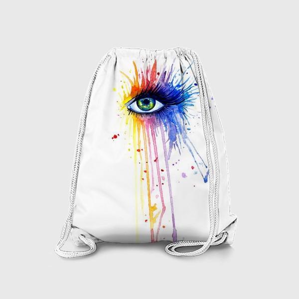 Рюкзак «Акварельный глаз»