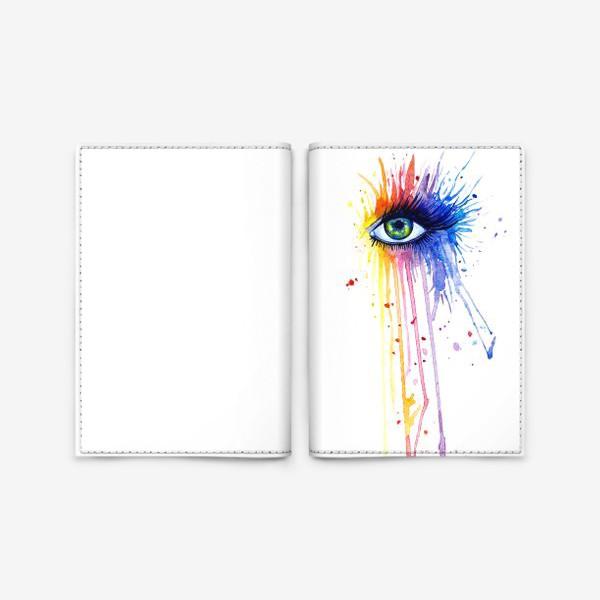 Обложка для паспорта «Акварельный глаз»