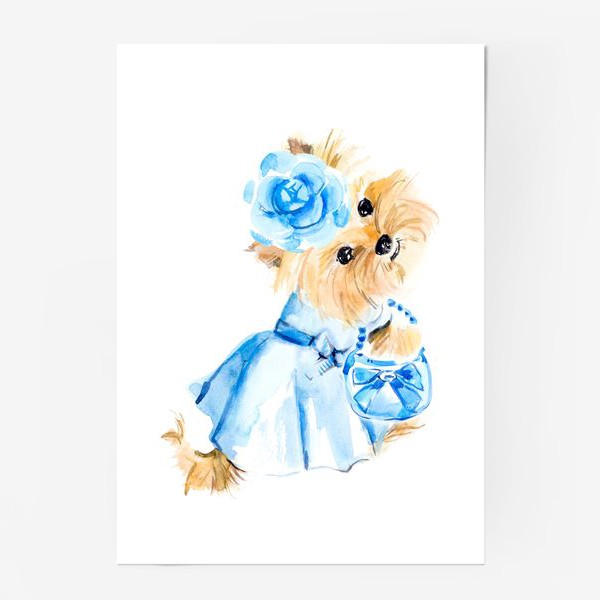 Постер «Йорк в голубом платье»