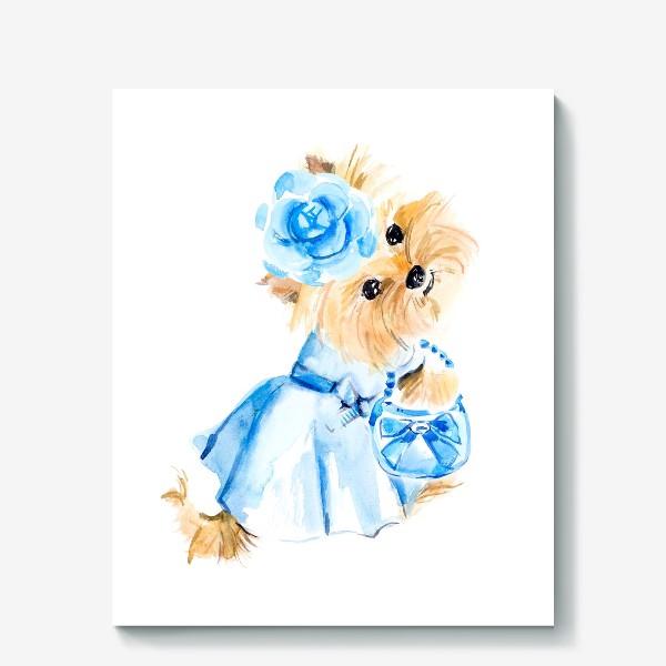 Холст «Йорк в голубом платье»