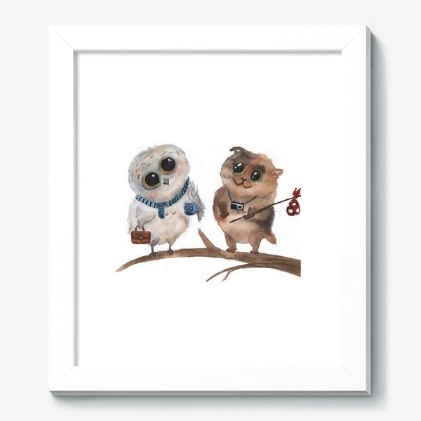 Картина «Сова и кот»