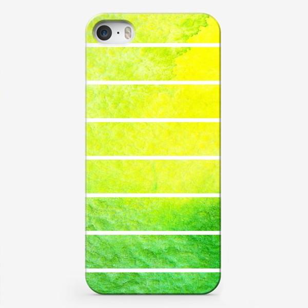 Чехол iPhone «Яркие полоски акварель»