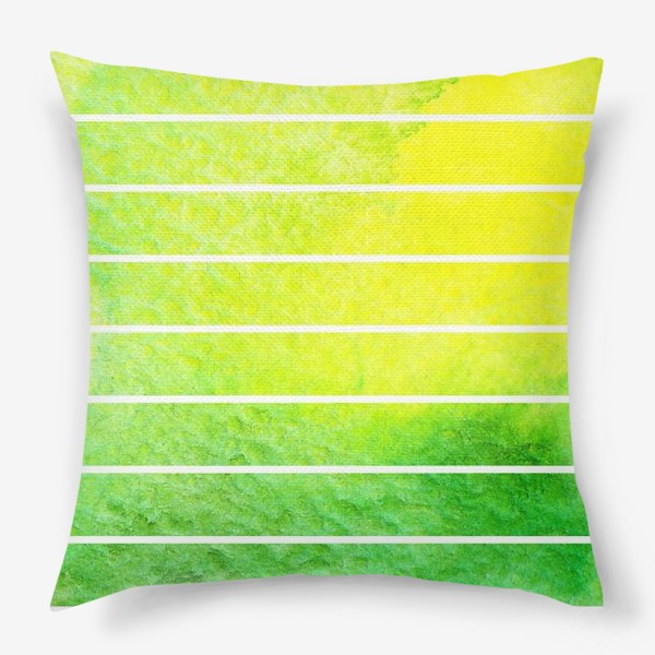 Подушка «Яркие полоски акварель»
