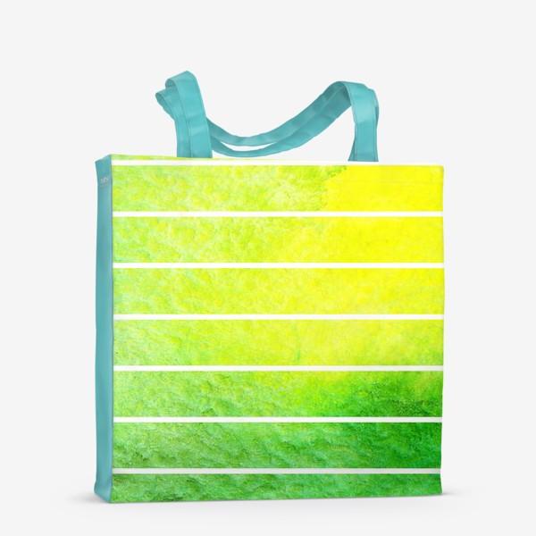 Сумка-шоппер «Яркие полоски акварель»