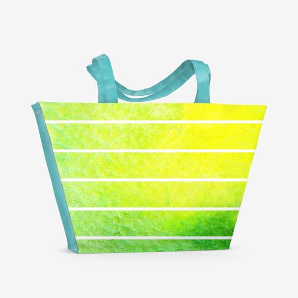 Пляжная сумка «Яркие полоски акварель»