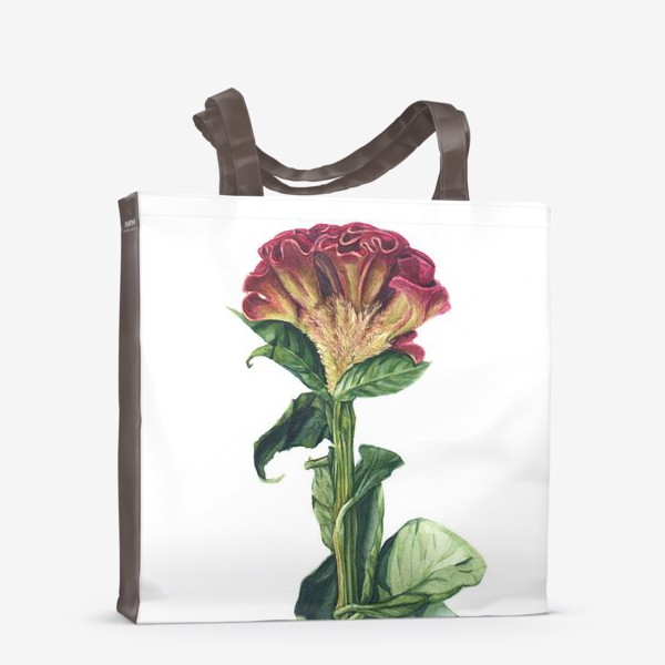 Сумка-шоппер «Цветок целозия»