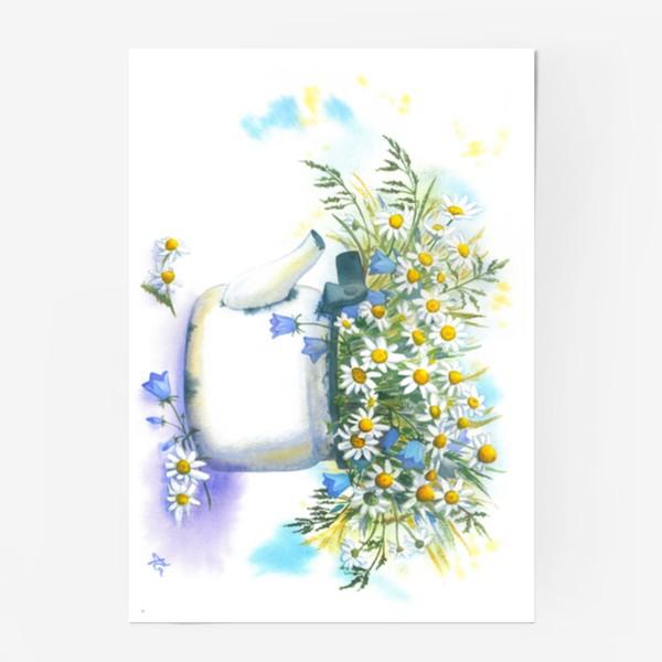 Постер «Ромашки в чайнике»