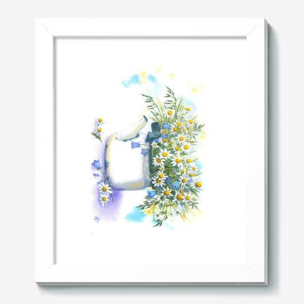 Картина «Ромашки в чайнике»