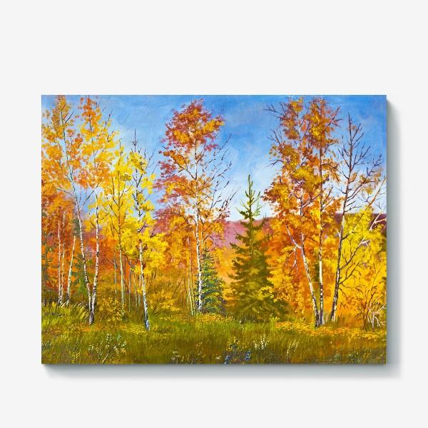 Холст «Осенний лес»