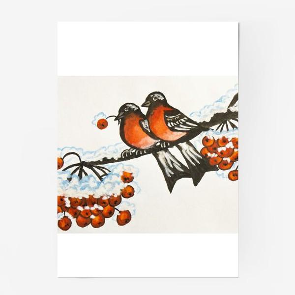 Постер «Два снегиря»