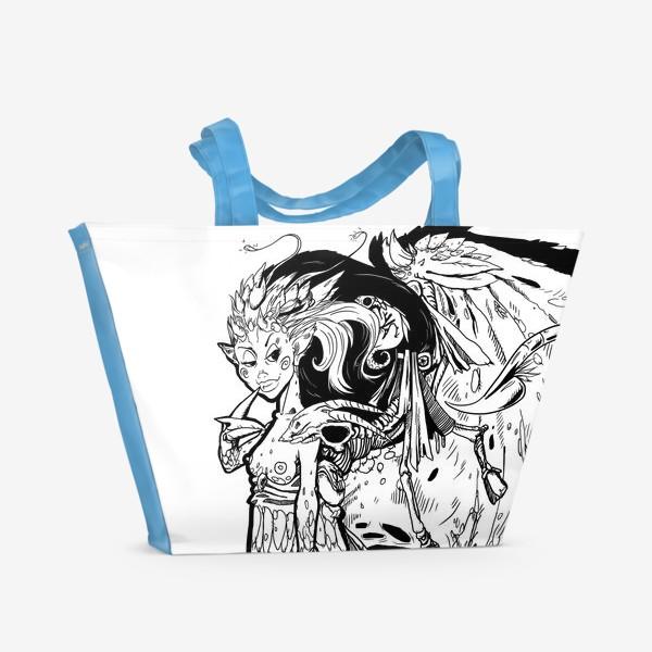 Пляжная сумка «Маленькая хитрая Дьяволица»