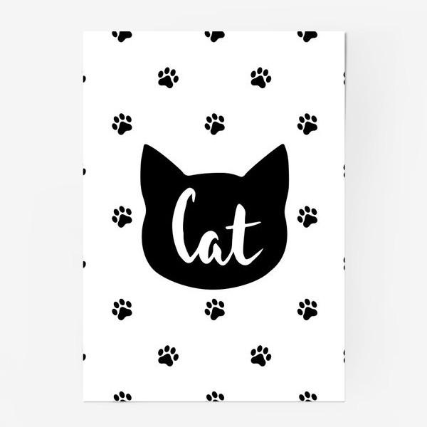 Постер «Cat. Кот/Кошка и кошачьи следы»