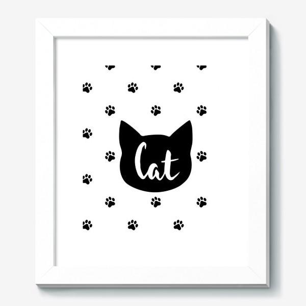 Картина «Cat. Кот/Кошка и кошачьи следы»