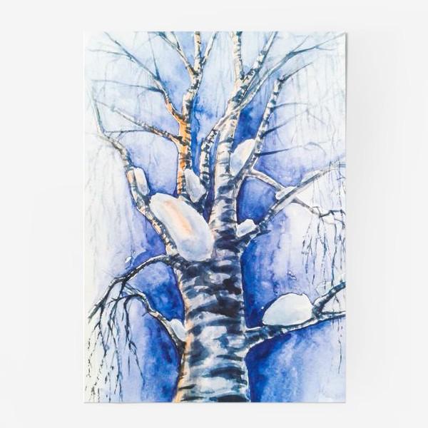 Постер «Зимняя береза»