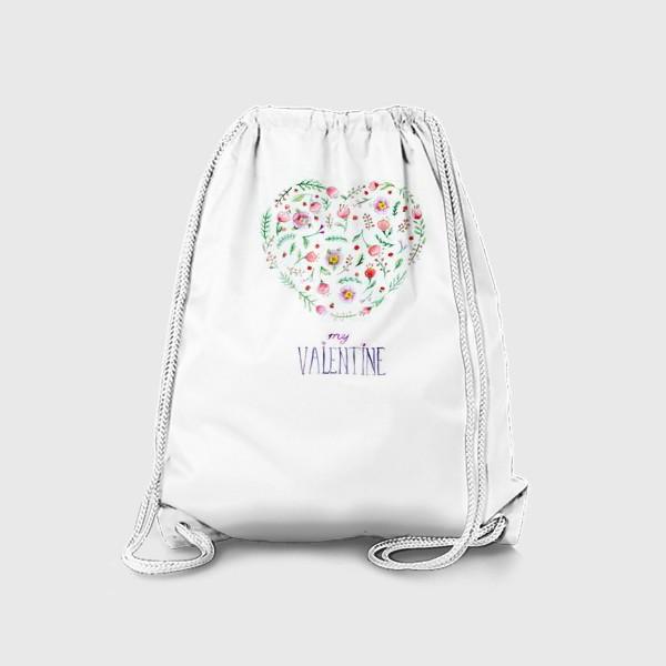 Рюкзак «Цветочное сердце»