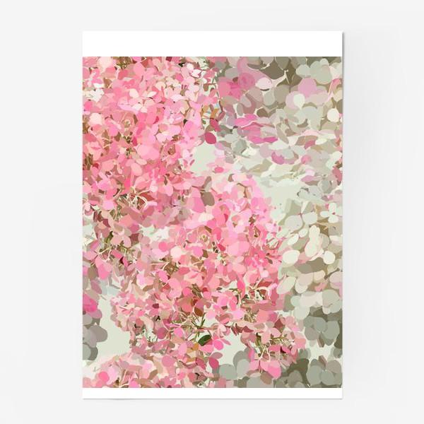 Постер «pink hydrangea»