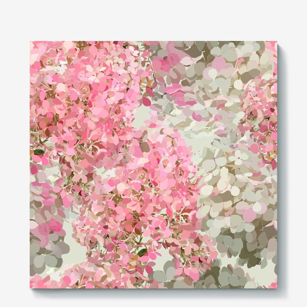 Холст «pink hydrangea»