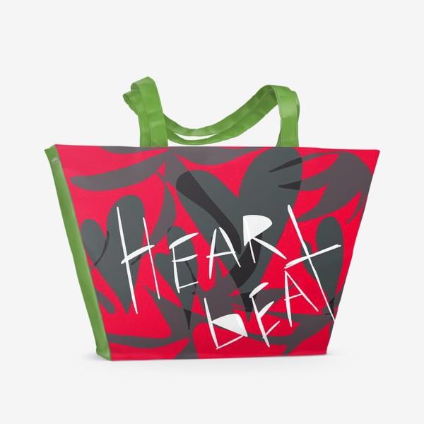Пляжная сумка «heartbeat»