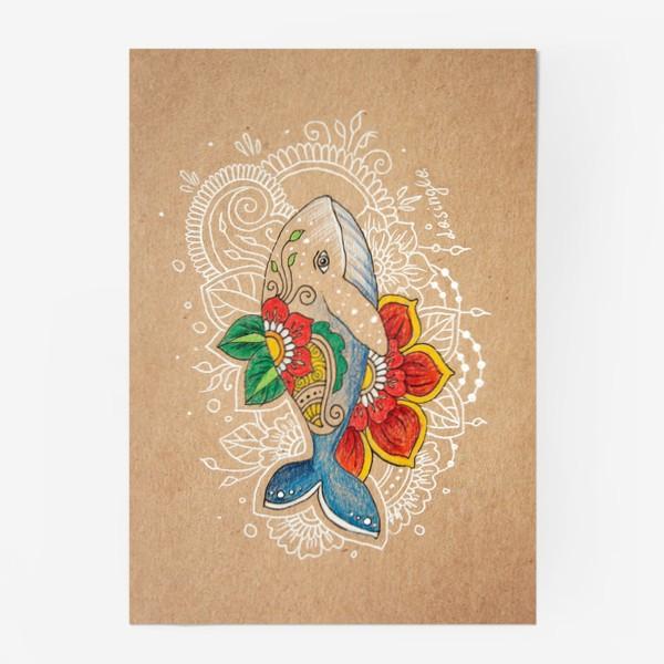Постер «Цветочный кит»