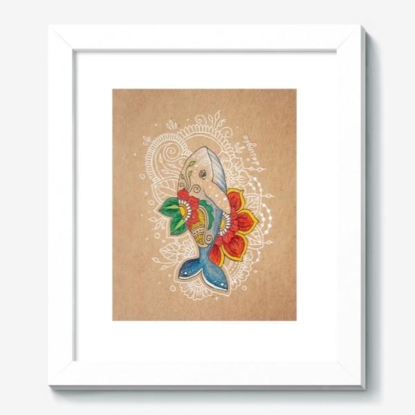 Картина «Цветочный кит»