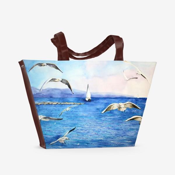 Пляжная сумка «Морские чайки»