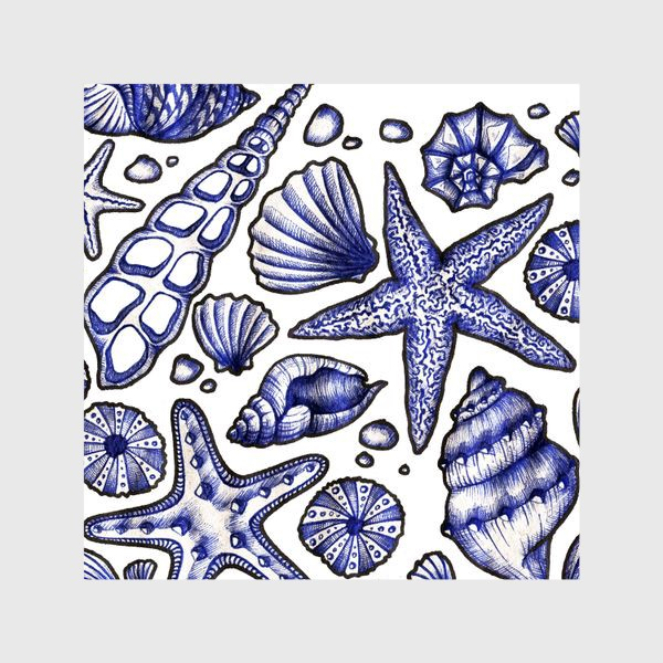 Шторы «Морские ракушки»