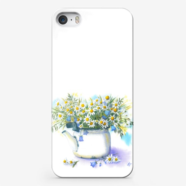 Чехол iPhone «Ромашки в чайнике»