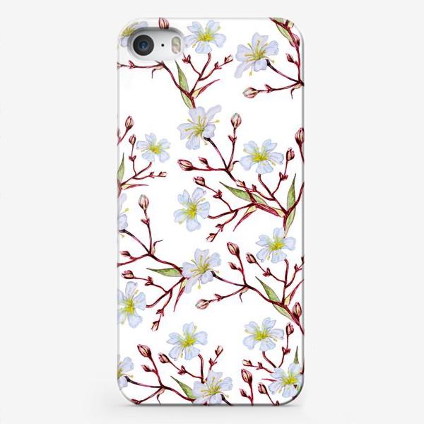 Чехол iPhone «Узор Цветущая вишня»