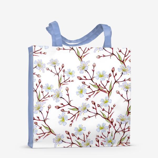 Сумка-шоппер «Узор Цветущая вишня»