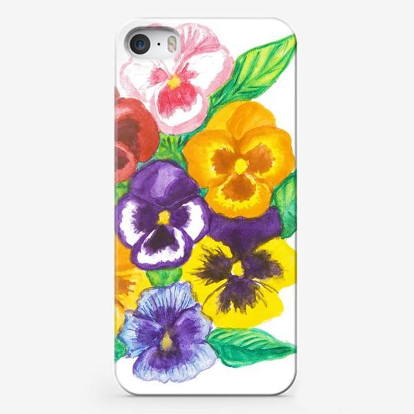 Чехол iPhone «Анютины глазки»