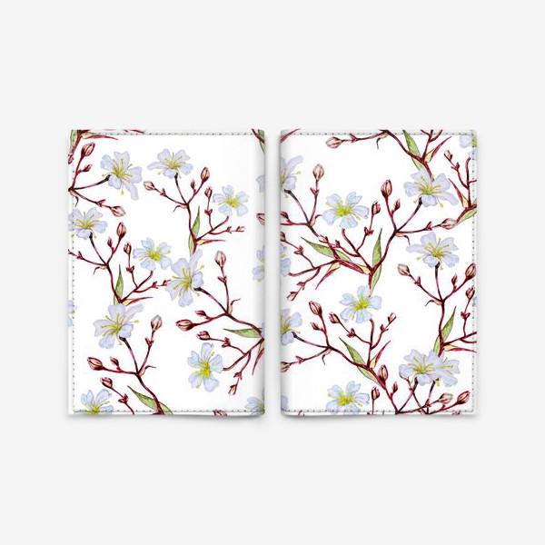 Обложка для паспорта «Узор Цветущая вишня»