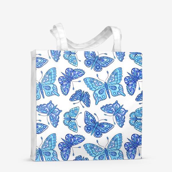 Сумка-шоппер «Голубые бабочки»