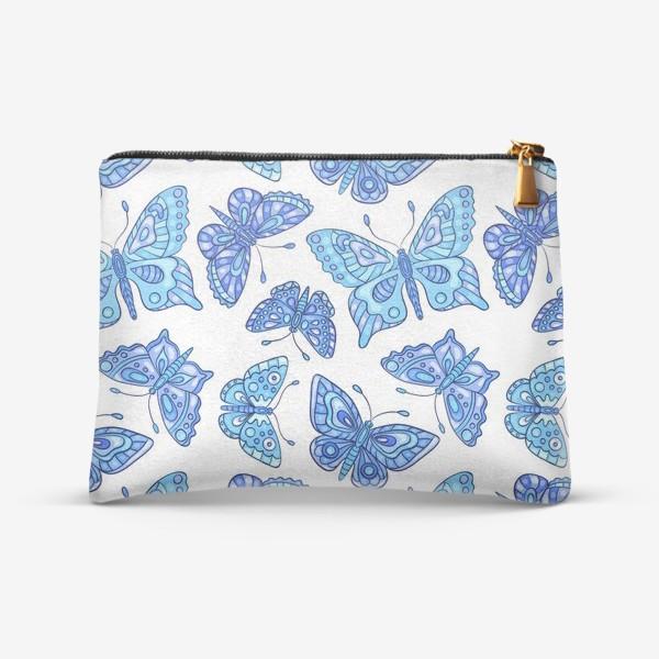 Косметичка «Голубые бабочки»