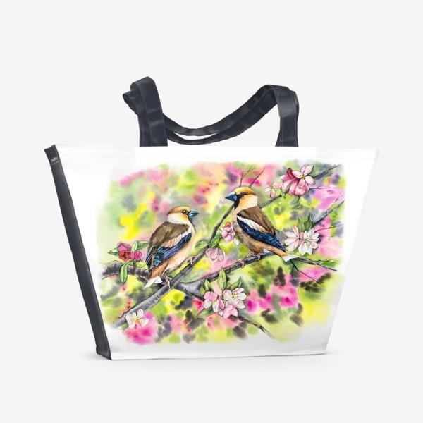 Пляжная сумка «Дубоносы в саду»